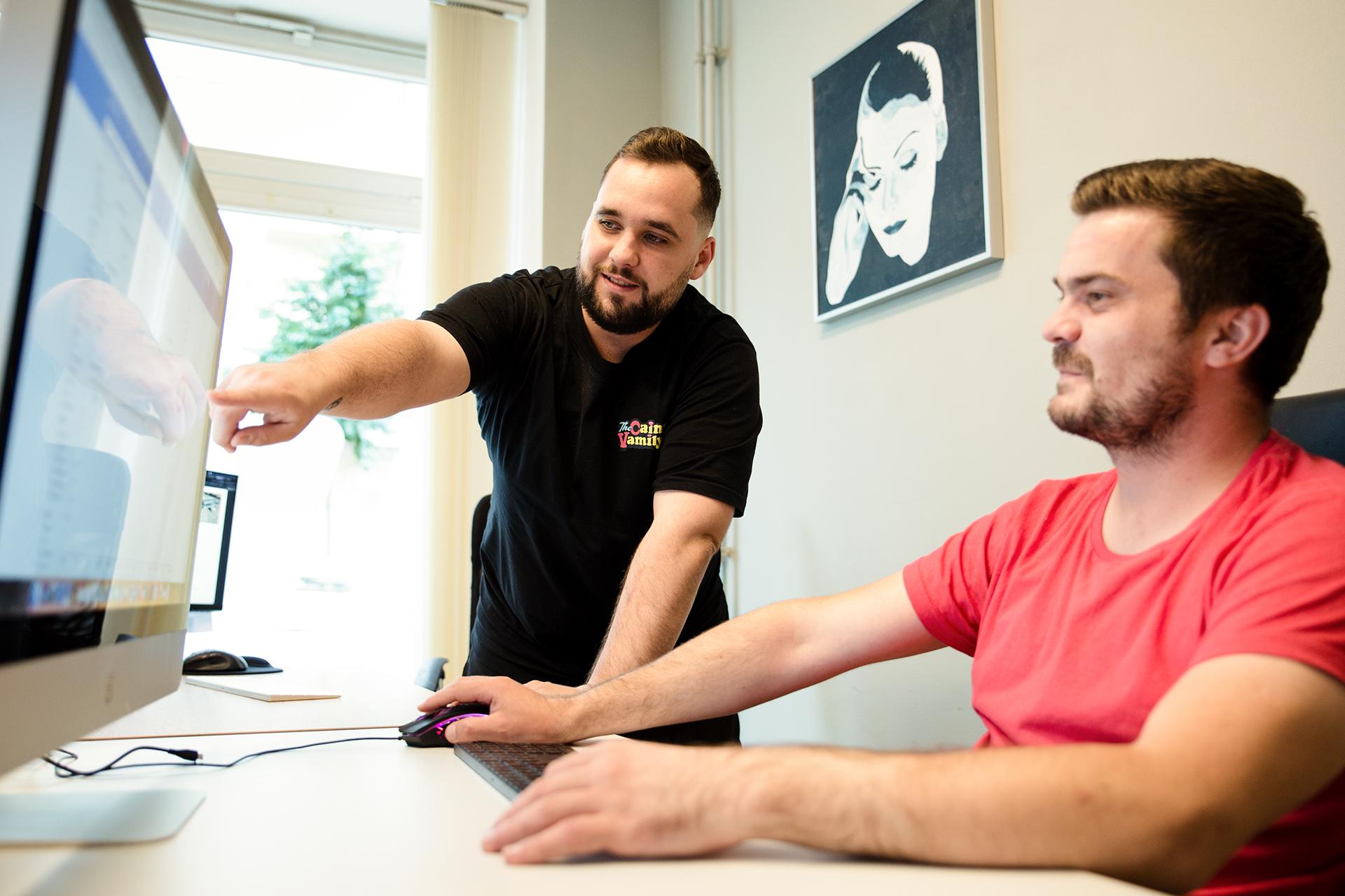 Attila und Vladimir bei der Onpage SEO.
